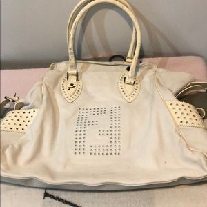 Authentic fendi white bag